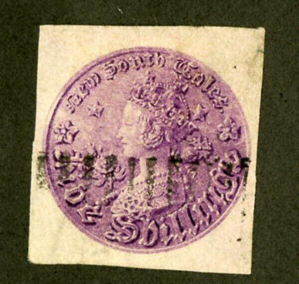 New South Wales Stamps # 44 USED Rare Imperf 4 Margins Scott Value $175.00