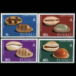 TUVALU 1980 - Scott# 129-32 Sea Shells Set of 4 NH