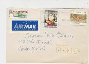 Australia 1997 Airmail to USA Xmas Have your Say Slogan Stamps Cover Ref 23670