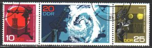 GDR. 1968. 1343-45. Observatory, sun. USED.