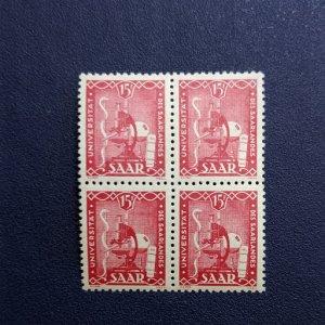 Saar 203 XFNH block of 4, CV $29