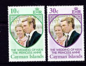 Cayman Is 320-21 MNH 1973 Princess Anne Wedding