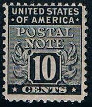 USA PN10, 10c Postal Note, used single, VF, light cancel
