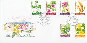 Norfolk Island 2002 FDC Sc #767-778 Set of 12 Phillip Island Flowers