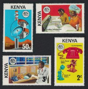 Kenya MNH 56-9 Telecommunications 1976