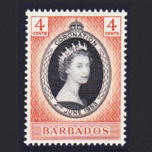 Barbados Queen Elizabeth II Coronation 1v SG#302