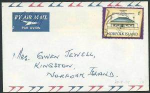 NORFOLK IS 1975 1c local rate cover........................................41237