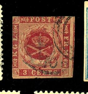 Danish W Indies #1 Used F-VF Cat $275