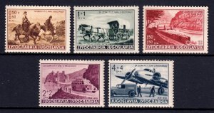 Yugoslavia - Scott #B79-B83- MH - Glazed gum, a few small thins - SCV $7.00