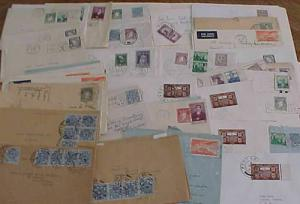 IRELAND  53 SMALL COVERS  1950's   MOSTLY TO USA