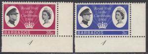 Barbados 285-6 MNH - Royal Visit