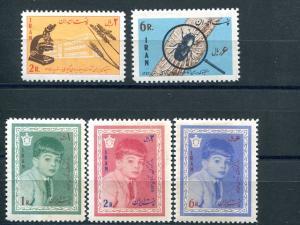 Iran #1297-8, 1305-7 Mint NH