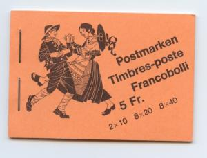 Switzerland, 1979 Volksbraeuche Booklet, complete,MNHunexploded, superb