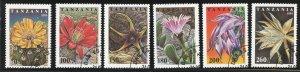 Tanzania Scott 1388-1393 9 Used VFNHOG(CTO) - Flowers