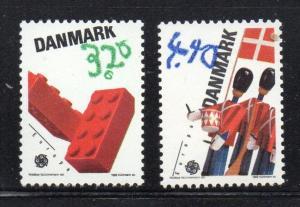 Denmark Sc 871-2 1989 Europa stamp set mint NH