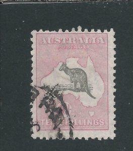 AUSTRALIA 1931-36 10s GREY & PINK GU SG 136 CAT £150