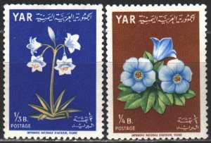 Yemen. 1964. 391a-92a from the series. Flowers, flora. MNH.