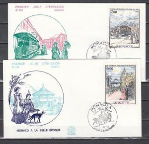 Monaco, Scott cat. 1546-1547. Bandstand and Trolley issues. 2 First day covers.