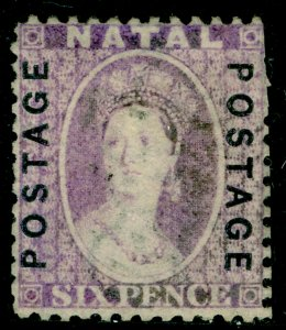 SOUTH AFRICA - Natal SG62, 6d mauve, USED. Cat £48.