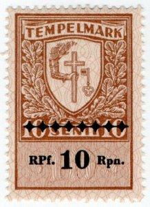(I.B) Estonia Revenue : General Duty 10Rpf on 10s OP (German Occupation)