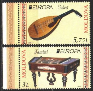 Moldova. 2014. 863-64. Musical instruments, europe-sept. MNH.