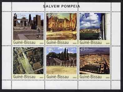 Guinea-Bissau MNH S/S City Of Pompeii 2003 6 Stamps