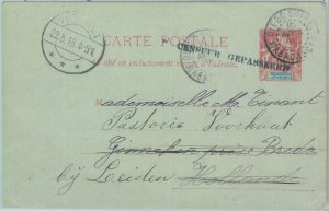 81172 - Madagascar - POSTAL HISTORY - STATIONERY CARD 1916 H&G # 7 Dutch CENSOR