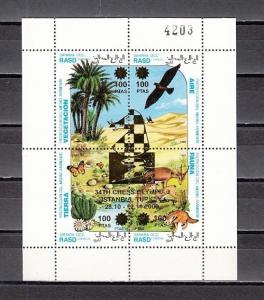 Sahara, 2000 issue. 34th Chess Olympiad Silver o/print on sheet of 4.