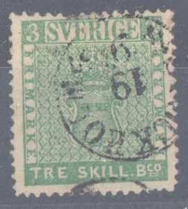 Sweeden #1 USED VF C$5000.00 -- 3s Blue Green - RARE