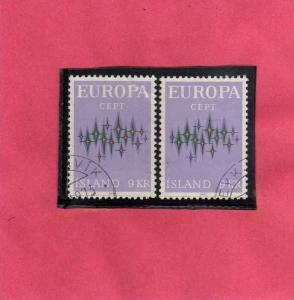ISLANDA - ICELAND - ISLANDE 1972 EUROPA USED