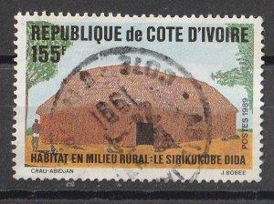 Ivory coast 1989 Rural Habitat 155F (1/1) USED