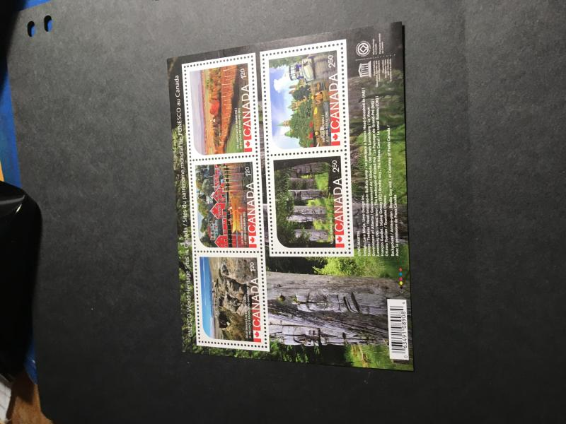 Canada #2739  Mint VF-NH Cat. $17.20 2014 World Heritage Souv. Sheet