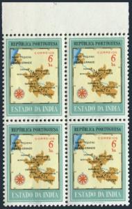 Port India 553 block/4,MNH.Michel 518. Map of Damao & Nagar Aveli,1957.