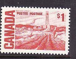 Canada-Sc#465B- id5-Unused NH $1.00 Oilwell-1967-