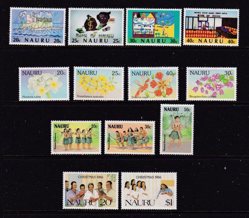 Nauru a MH lot with sets