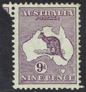 AUSTRALIA 1913 KANGAROO 9D 1ST WMK