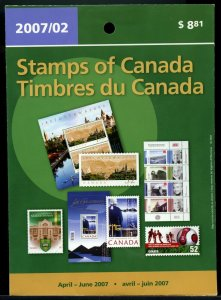 April to June 2007 quarterly issue Mint Canada stamps Cat $17