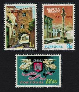 Portugal Castelo Branco 3v 1971 MNH SG#1429-1431