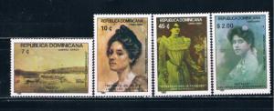 Dominican Republic C371-74 MNH set Painitngs (D0155)