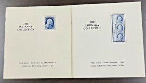 The Ishikawa Collection Sotheby's Catalogue US 1851-57 1 Cent Blue Lot of 2 1980