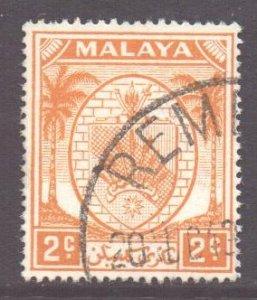 Malaya Negri Sembilan Scott 39 - SG43, 1949 Arms 2c used