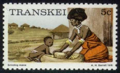 South Africa-Transkei #9 Grinding Corn, MNH (2.75)