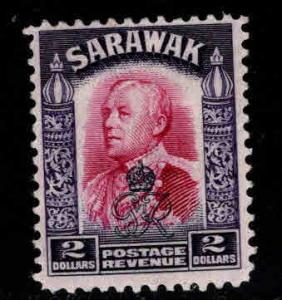 SARAWAK Scott 172 MH* overprint stamp
