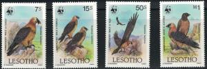 Lesotho SC512-515 Lammergeiser Vulture-World Wide Fund MNH 1986