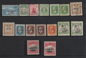 Niue a small lot of mainly MH earlies