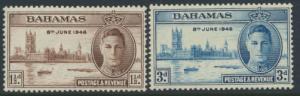 Bahamas  SG 176 -177 SC# 130 -131 MNH Victory 1946