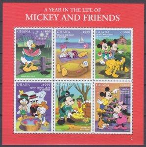 1998 Ghana 2691-2696KL Disney - Mickey Mouse 8,00 €