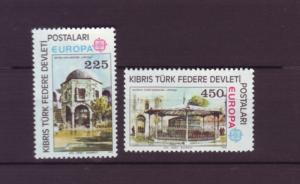 J2681 JLS stamp 1978 turkey cyprus mnh set/2 #55-6 $9.75v