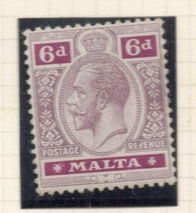 Malta 1921-22 Early Issue Fine Mint Hinged 6d. 321528