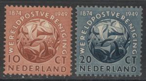 NETHERLANDS - UPU:  1949 MNH Set; Sc 323-324